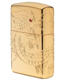 Chinese Dragon Armor Gold Plated Zippo Lighter - Zippo 29265