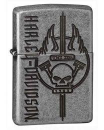 Harley Davidson HD Armor Silver Plate Zippo Lighter - Zippo 29280
