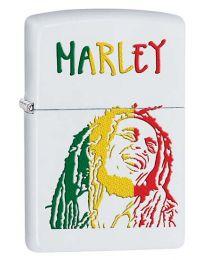Bob Marley White Matte Zippo Lighter - Zippo 29308