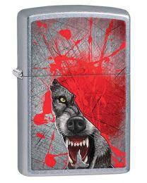Grunge Wolf Street Chrome Zippo Lighter - Zippo 29344