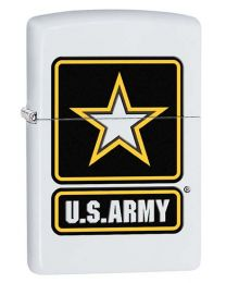 US Army Star White Matte Zippo Lighter - Zippo 29389