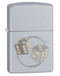 Dice Satin Chrome Zippo Lighter - Zippo 29412