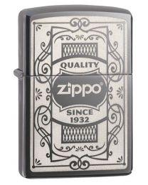Zippo Quality Zippo Lighter in Dark Chrome - Zippo 29425