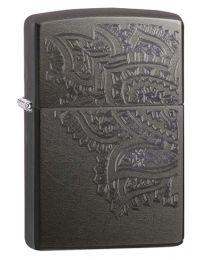 Iced Paisley Grey Dusk Zippo Lighter - Zippo 29431