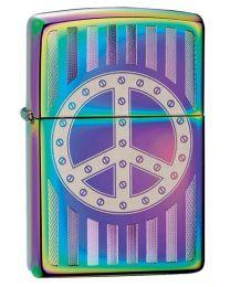 Rivet Peace Sign Zippo Lighter in Spectrum - Zippo 29435