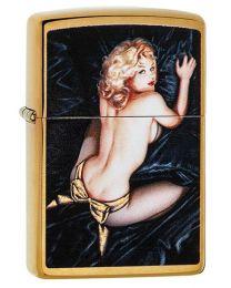 Olivia Zippo Lighter in Brushed Brass - Zippo 29473