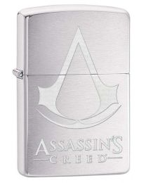 Assassins Creed Zippo Lighter in Brushed Chrome - Zippo 29494