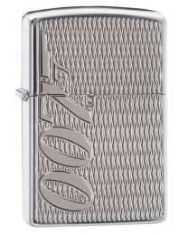007 James Bond Zippo Lighter in Polished Chrome Armor - Zippo 29550