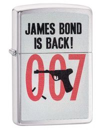 James Bond Is Back Zippo Lighter in Brushed Chrome - Zippo 29563
