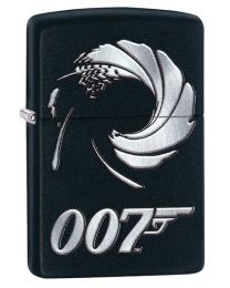 James Bond Gun Barrel Zippo Lighter in Matte Black - Zippo 29566