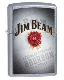 Jim Beam Signature Zippo Lighter in Street Brushed Chrome - Zippo 29571
