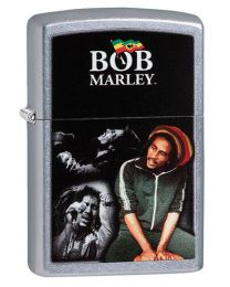 Bob Marley Moments Zippo Lighter in Street Brushed Chrome - Zippo 29572