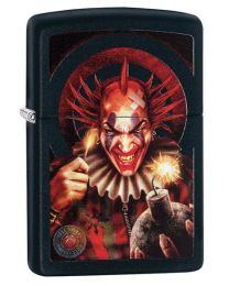 Anne Stokes Evil Clown Zippo Lighter in Matte Black - Zippo 29574