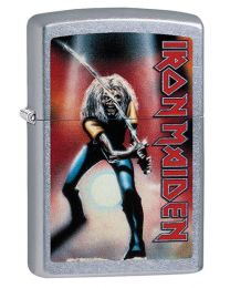Iron Maiden Zippo Lighter - Japan in Street Brushed Chrome - Zippo 29575