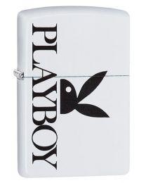 Playboy Peekin Bunny Zippo Lighter in Matte White - Zippo 29579