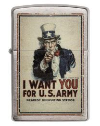 US Army Poster Zippo Lighter in Brushed Chrome - Zippo 29595