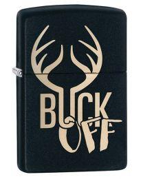 Buck Off Zippo Lighter in Matte Black - Zippo 29607