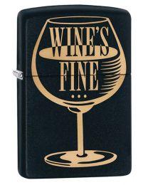 Wines Fine Zippo Lighter in Matte Black - Zippo 29611