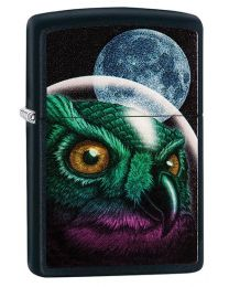 Space Owl Zippo Lighter in Matte Black - Zippo 29616