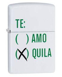 Tequila Design Zippo Lighter in Matte White - Zippo 29617