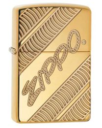 Armor Coiled Zippo Lighter in High Polished Brass - Zippo 29625