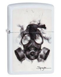 Spazuk Flame Art Zippo Lighter - Gask Mask - Zippo 29646
