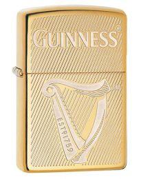 Guinness Zippo Lighter - Harp in Polished Brass - Zippo 29651