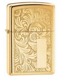 High Polished Brass Venetian Zippo Lighter - Zippo 352B