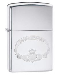 Friendship Loyalty Love Claddagh Zippo Lighter in Chrome - Zippo 60002416