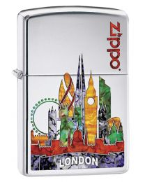 Fusion London Polished Chrome Zippo Lighter - Zippo 60002862