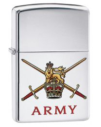 British Army Crest Zippo Lighter in High Polished Chrome - Zippo 60003639