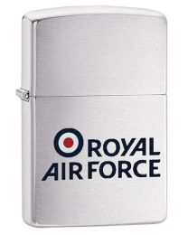 RAF Royal Air Force logo Zippo Lighter in Brushed Chrome - Zippo 60003642