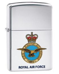 Royal Air Force Crest Zippo Lighter in High Polished Chrome - Zippo 60003643
