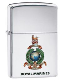 Royal Marines Crest Zippo Lighter in High Polished Chrome - Zippo 60003644