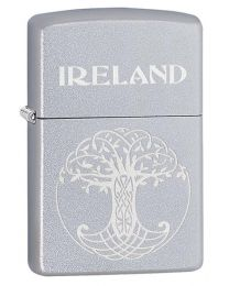 Celtic Tree Of Life Zippo Lighter in Satin Chrome - Zippo 60003652