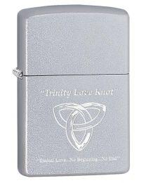 Trinity Love Knot Zippo Lighter in Satin Chrome - Zippo 60003653