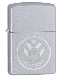 Ireland Patch Zippo Lighter in Satin Chrome - Zippo 60003654