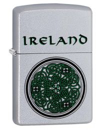 Ireland Celtic Knot Design Zippo Lighter in Satin Chrome - Zippo 60003661