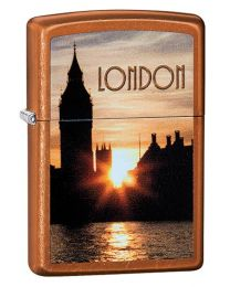 Big Ben London At Night Zippo Lighter in Toffee - Zippo 60003674