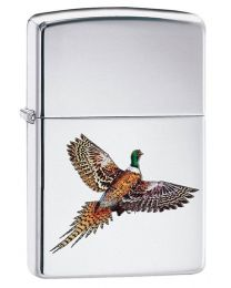 Pheasant Zippo Lighter in High Polished Chrome - Zippo 60003989