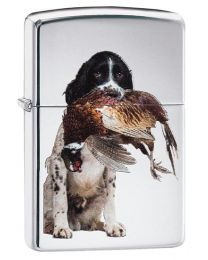 Springer Spaniel Zippo Lighter in High Polished Chrome - Zippo 60003990