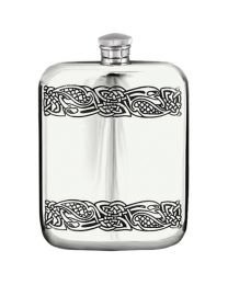 English Pewter Company 6oz Celtic Purse Hip Flask
