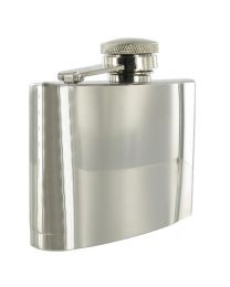 4oz Polished Stainless Steel Hip Flask