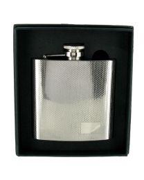 4oz High Polished Stainless Steel Diamond Cut Hip Flask