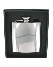 6oz Polished Stainless Steel Hip Flask