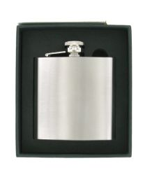 6oz Brushed Stainless Steel Hip Flask