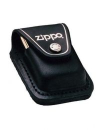 Black Leather Zippo Lighter Pouch with Clip - Zippo LPCBK