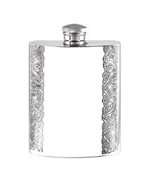 English Pewter Co. 6oz Celtic Pewter Hip Flask