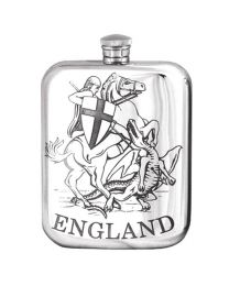 English Pewter Co. 6oz George & Dragon Purse Hip Flask
