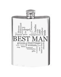 English Pewter Company 6oz Best Man Hip Flask